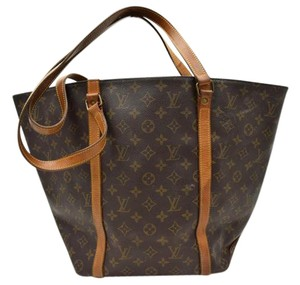 Louis Vuitton Shopping Tote Monogram Leather Neverfull Shoulder Bag