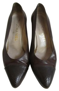 Chanel Leather Brown Pumps