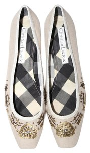 Christian Lacroix cream Flats
