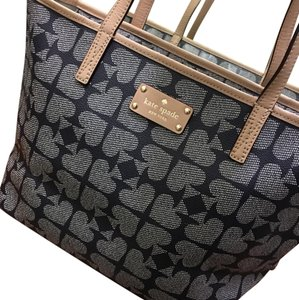Kate Spade Tote in navy and tan handles