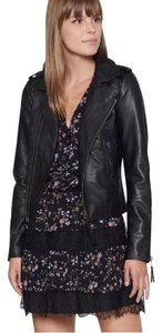 Joie Leather Designer Zipper BLACK Jacket
