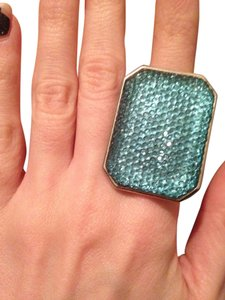 Statement Teal Blue Sparkly Rhinestone Cocktail Ring