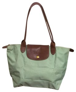 Longchamp Tote in Lime