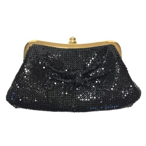 Other Mesh Metal Gold Hardware Evening BLACK/ GOLD Clutch