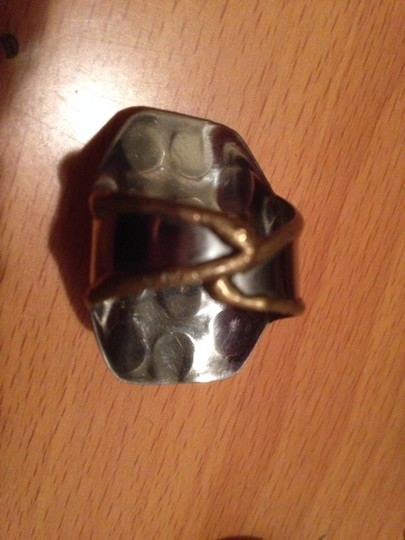 Other Artisan Handmade Stone Shield Saddle Ring Mixed Metals