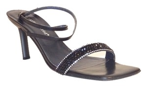 Charles David Crystal Black Sandals