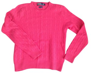 Ralph Lauren Cashmere Cable Knit Crew Neck Sweater