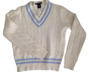 Ralph Lauren Cashmere Cableknit Golf V-neck Sweater