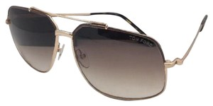 Tom Ford New TOM FORD Sunglasses RONNIE TF 439 48F 60-13 140 Brown-Gold Aviator