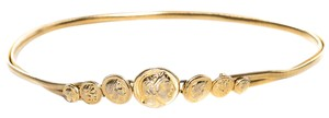 Judith Leiber Gold-Tone Stretch Snake Chain Waist Belt