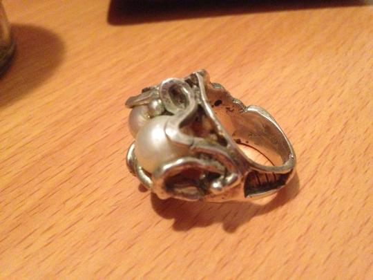 Other Handmade Artisan Silver Pearl Abstract Ring