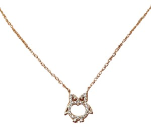 Other Ravishing Micro Pave CZ Owl Necklace Sterling Silver