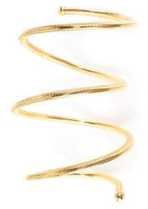 Chanel Chanel Vintage Gold Coil Arm Cuff