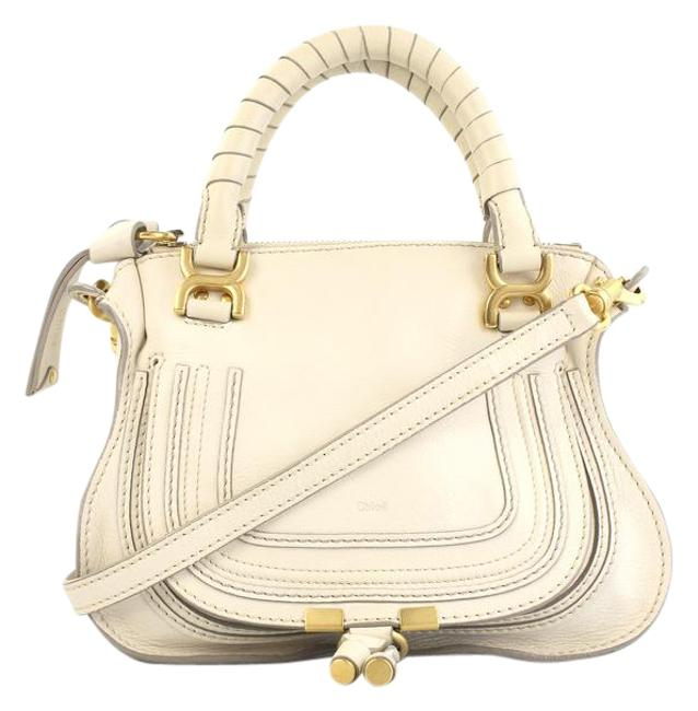 Item - Marcie Double-carry Ivory Leather Satchel