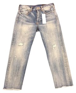 Vince Boyfriend Cut Jeans-Distressed