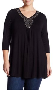Olivia Sky Embellished Bling Beaded V Neck Tunic