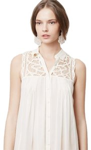 Blue Tassel 27623685 Laced & Ruched Tunic Blouse Anthropologie Blouse Anthropologie Flowy Blouse Blouse Button Down Shirt Ivory/ Off White