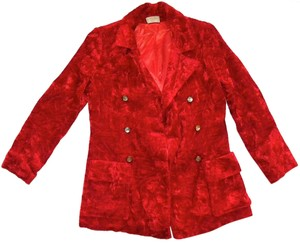 Other Vintage Double Breasted Disco Mod Red Blazer
