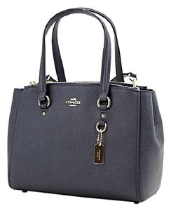 Coach Satchel in navy. Coach Stanton Carryall 26 Navy Crossgrain Leather  Satchel 89a0849199794
