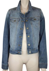 BRASS PLUM Denim Jean Distressed BLUE Womens Jean Jacket