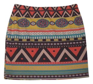 5th Culture Tribal Tight Mini Colorful Bright Mini Skirt Multiple