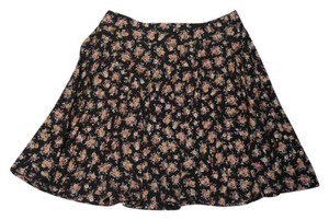 Urban Outfitters Floral Skater High-waisted Flowy Girly Skirt Multi