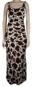 BROWN WHITE Maxi Dress by Céline Floral Maxi Full Length White