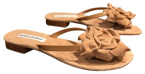 Manolo Blahnik light brown suede Sandals