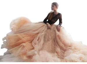 Nude Tulle Wedding Skirt Wedding Dress
