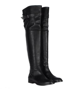 AllSaints Thigh Over The Knee Buckle Black Boots