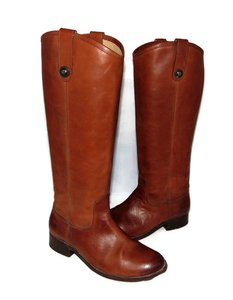 Frye Riding Western Cognac extended calf Boots