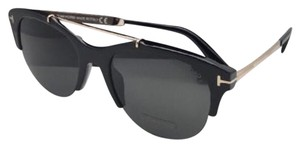 Tom Ford New TOM FORD Sunglasses ADRENNE TF 517 01A 55-19 140 Black & Gold