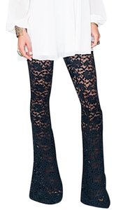 Show Me Your Mumu Boho Lace Stretchy Chic Bam Bam Bells Festival Lounge Flare Pants Blue