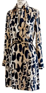 Diane von Furstenberg short dress Animal-Print Longsleeve Silk Belted on Tradesy