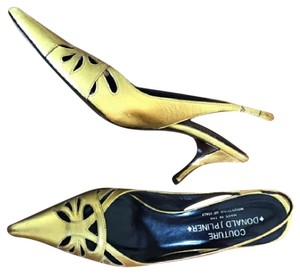 Donald J. Pliner Metallic Gold Pumps