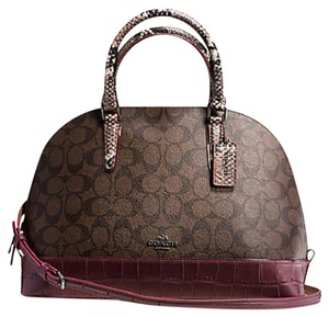 Coach Satchel in BLACK ANTIQUE NICKEL/OXBLOOD