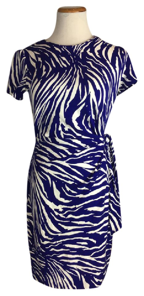Diane Von Furstenberg Royal Purple Zoe Work Office Dress