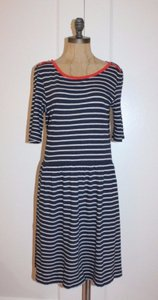 Anthropologie short dress BLUE Striped + Good on Tradesy