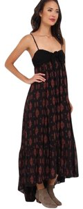 Black Maxi Dress by Free People Maxi High Low Festival Bohemian