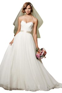 Wtoo Wtoo 13704 Agatha Scalloped Strapless Neckline Tulle Ballgown Wedding Dress