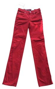 Armani Collezioni Boot Cut Pants red