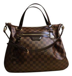 Louis Vuitton Damier Ebene Evora Mm Rare Find! Brand New! Satchel in Dark Brown