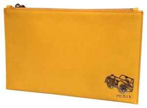 Prada yellow Clutch