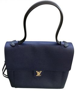 Louis Vuitton Satchel in Black- Blue
