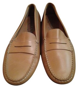 Tod's Leather Mocossins Gommino tan- golden brown Flats