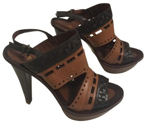 7 For All Mankind brown Platforms