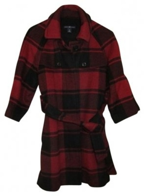 Preload https://item2.tradesy.com/images/gap-red-and-black-check-34-sleeve-wool-blend-belted-pea-coat-size-2-xs-20861-0-0.jpg?width=400&height=650