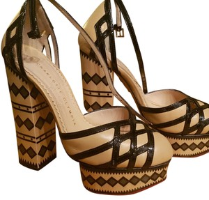 Charlotte Olympia Beige and black Platforms