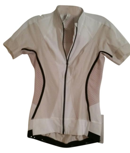 Item - White with Beige and Black Activewear Top Size 6 (S, 28)