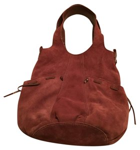 Lucky Brand Suede Patent Leather Hobo Bag